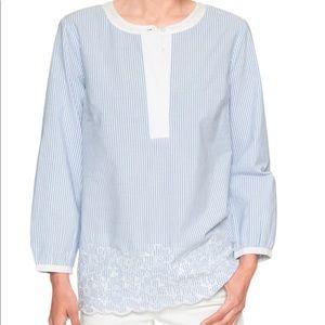 NWT Banana Republic long sleeve embroidered shirt